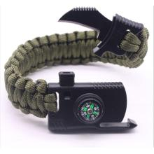 Factory directly provide for Survival Bracelet Knife Whistle Magnesium Fire Starter Compass Kits export to British Indian Ocean Territory Suppliers