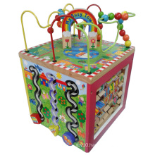 My Busy Town Educational Kids Wooden Multi 5 Way Playing Activity Cube Toy