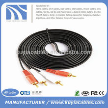 16FT 2RCA to 2RCA Dual Stereo AV Cable Audio Video Cable Cord 5m 16 FT