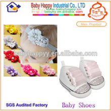 wholesale with rhinestone baby canvas shoe