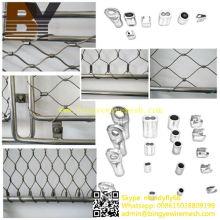Malla de alambre flexible de Inox de la forma del estilo de la virola para el sistema de las escaleras