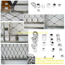 Ferrule Style Flexible Inox Wire Rope Mesh for Staircases System