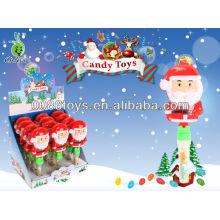 Papá Noel clap dulces juguetes