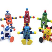 robot de juguete lindo de madera mejor robot juguetes vaca de animales para niños