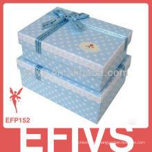 Cajas de la joyería del papel de la manera para el anillo de dedo, collar, pendiente, caja de regalo