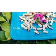 Granulés de tiges de champignons Shiitake déshydratés et déshydratés à l'air organique