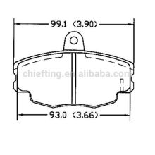 D292 CITROEN for sumitomo brake pads