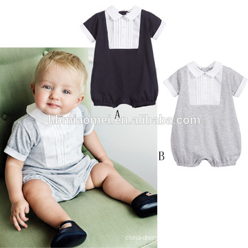 2017 New Design Knitted Baby Romper Set Boys Romper With Hat Wholesale Kids Romper