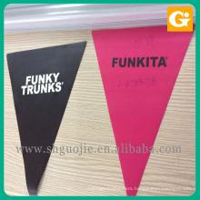 Custom shape triangle machine cutting flex vinyl banner