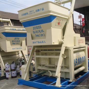 Environmental Protection Js1000 (40-50m3/h) Concrete Mixer Machine with Lift