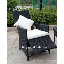 Luxe Durable Facile nettoyage meubles de jardin chaise relaxe en rotin