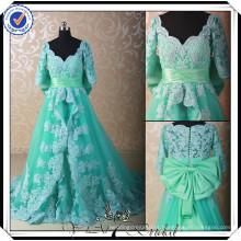 PP0179 Mais recentes mangas compridas com contas de renda Bridal MuslimWedding Gown 2015
