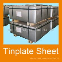 JIS G3303 Prime tinplate T4CA temper 2.8/5.6 tinning for metal can prodution