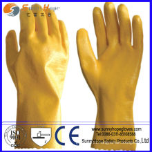 Smooth Finish Yellow Nitrile coated glove