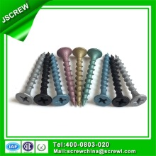 Couleurs Peinture Flat Head Drywall Screw