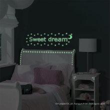 Preço de fábrica atacado brilho nos adesivos de parede escuro para quartos dos miúdos venda quente