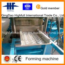 Rodillo de trampilla de acero galvanizado que forma la máquina