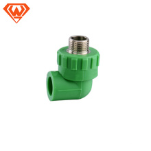 20MM- 110MM Green color PPR Pipe Male Thread Elbow