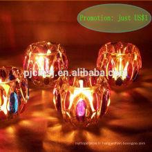 Mon Dieu! Juste US $ 1 !!! bougeoir de lumière de thé en cristal pour cadeau de mariage, décoration de mariage