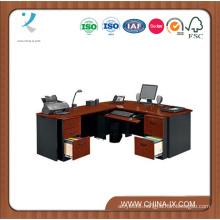 Locking Double Pedestal Executive Bow Front L Desk