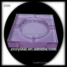 Cenicero de cristal rosa K9