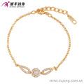Элегантный CZ алмазов позолоченные имитация ювелирных изделий Браслет для женщин - 74134