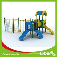 Passen Sie europäischen Standard Safe Kinder Outdoor Spielplatz mit Swing und Klettergerüst, Kinder Schule Outdoor Plastikfolien