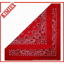 Personalizado algodão promocional square reativa impressão bandana