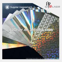 Holographisches Laserpapier für Bucheinband in Rolle
