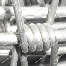 Aluminum-clad steel barbed wire
