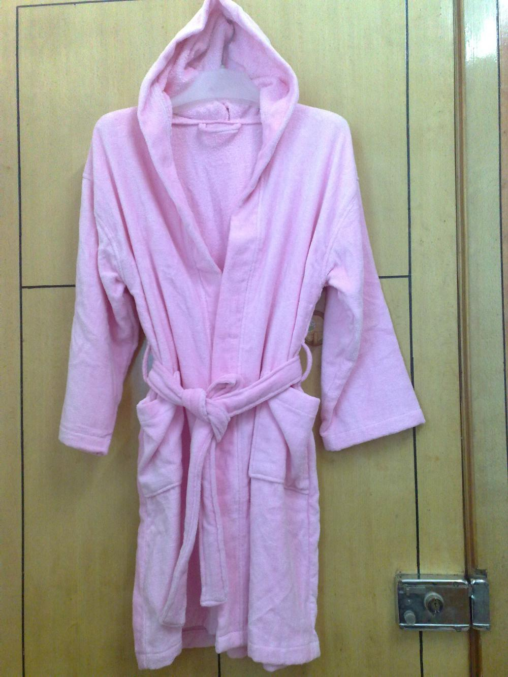 100%Cotton Kids Velour Bathrobe