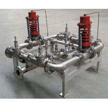 Manifolds de control de presión de gas criogénico