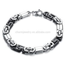 2015 joyería nueva y americana de la vendimia, patrón característico de la pared de la joyería de la alta calidad de las pulseras de acero titanium GS721