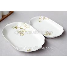 OEM ceramic hotel fish plate