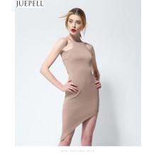 2016 Summer New Sexy без бретелек Tight пакет хип тонкие платья без рукавов женщин нерегулярные юбки моды женщин вязать платья