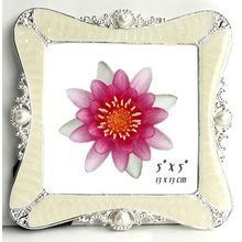 Fashion White Jewelry 5x5inch Photo Frame