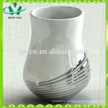 Elegantes Silber Modernes Chinesisches Porzellan Blumenvase