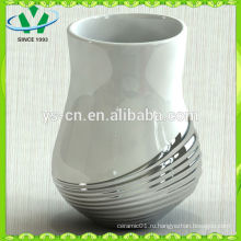Элегантная серебряная современная китайская фарфоровая ваза