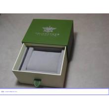 Caixa de madeira personalizada do pacote do relógio de pulso com logotipo