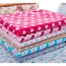 100% Polyester Doppelseitige gebürstete Fleece-Wurfdecke