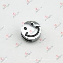 Venta al por mayor sonrisa diapositivas diapositivas encantos para accesorios de bricolaje (JP08)
