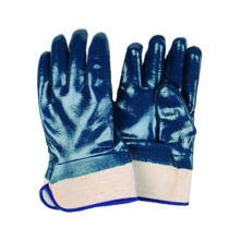 Jersey Liner Glove with Nitrile Fully Dipped, Safety Cuff