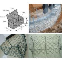 Galvanizado e PVC revestido Gabion malha fabricante