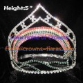 5inch Rainbow Crystal Crown