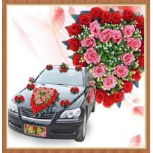 Flor del coche de plástico de alta demanda para la decoración