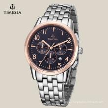 Relógio de pulso de aço inoxidável dos homens de quartzo da forma, mão Watch72135 dos esportes