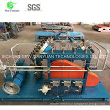 Compressor de diafragma de gás argônio para compressão de gás de alta pureza