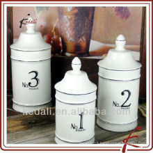 new style ceramic coffee canister set with NO design