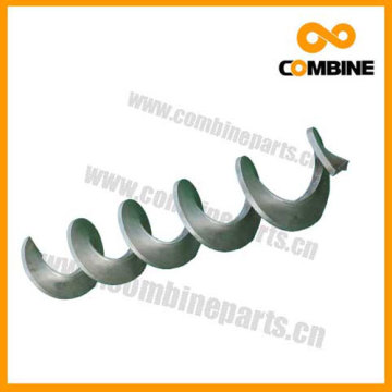 Spiral blade helical blade and machine