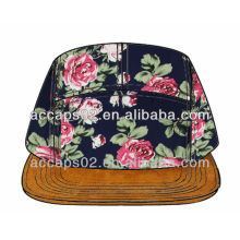 Sombrero floral de encargo del panel del llano 5